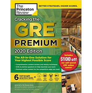 Cracking the GRE Premium Edition with 6 Practice Tests, 2020 - neuveden