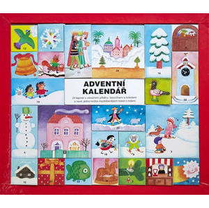 Czech Advent Calendar - 24 miniature books of Christmas stories, poems and carols and one extra book of Czech carols with music included.